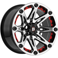 Image 814 Jester - FLAT BLACK MACHINED 17x9