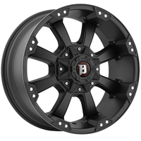 Image 845 Morax - FLAT BLACK W/ MACHINED STRIPE 16x8