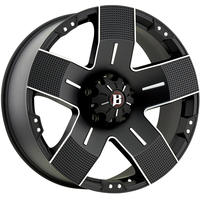 Image 901 Hyjak - FLAT BLACK MACHINED 16x8
