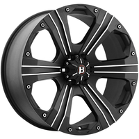 Image 902 Outlaw - FLAT BLACK MACHINED 16x8