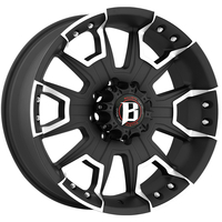 Image 904 Havoc - FLAT BLACK MACHINED 16x8