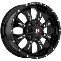 Image 951 Dagger - GLOSS BLACK w/ MILLED WINDOWS 20x9