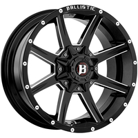 Image 956 Razorback - GLOSS BLACK w/ MILLED WINDOWS 18x9