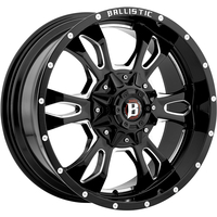 Image 957 Mace - GLOSS BLACK w/ MILLED WINDOWS 20x9