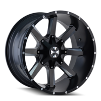 Image BUSTED (9100) SATIN BLACK/MILLED SPOKES 20x12