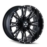 Image AMERICANA (9101) SATIN BLACK/MILLED SPOKES 20x9