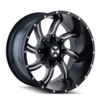 Image TWISTED (9102) SATIN BLACK/MILLED SPOKES 20x9