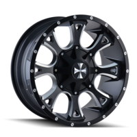 Image ANARCHY (9103) SATIN BLACK/MILLED SPOKES 20x10