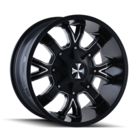Image DIRTY (9104) SATIN BLACK/MILLED SPOKES 22x14