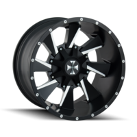 Image DISTORTED (9106) SATIN BLACK/MILLED SPOKES 20x9