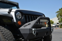 Image Angry Eyes Grill Black For Jeep Wrangler 2007-2016