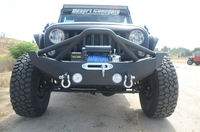 Image Steel Mid Front Bumper 12 w/ Fog Lights for 07-16 Jeep Wranglers