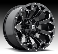 Image Assault D546 - Black & Milled 17x9