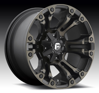 Image Vapor D569 - Matte Black & Machined 17x9