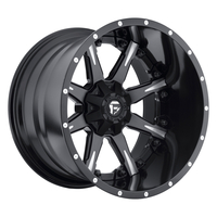Image Nutz D251 - Black & Milled 20x9