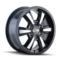 Image 102 - GLOSS BLACK/MACHINED FACE 18x8