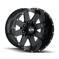 Image 141 - GLOSS BLACK/MILLED SPOKES 17x9