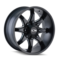 Image 181 - SATIN BLACK/MILLED SPOKES 17x9