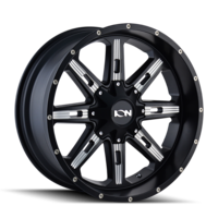 Image 184 - SATIN BLACK/MILLED SPOKES 17x9