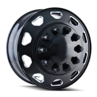 Image IB02 - FRONT BLACK/MILLED SPOKES 22.5x8.25