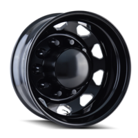 Image IB02 - REAR BLACK/MILLED SPOKES 22.5x8.25
