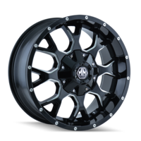Image WARRIOR (8015) BLACK/MILLED SPOKES 17x7.5
