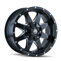 Image TANK (8040) BLACK/MILLED SPOKES 17x9
