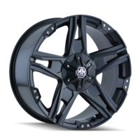 Image PATRIOT (8080) MATTE BLACK 17x8