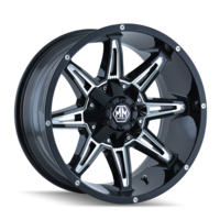 Image RAMPAGE (8090) BLACK/MILLED SPOKES 17x9