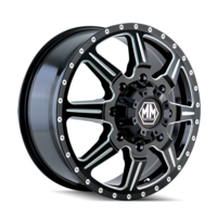 Image MONSTIR (8101) FRONT BLACK/MILLED SPOKES 19.5x6.75
