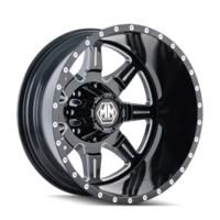 Image MONSTIR (8101) REAR BLACK/MILLED SPOKES 19.5x6.75