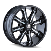 Image BEAST (8102) BLACK/MILLED SPOKES 18x9