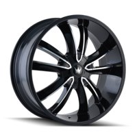 Image OBSESSION (366) GLOSS BLACK/MACHINED FACE 20x8.5
