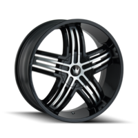 Image ENTICE (368) GLOSS BLACK/MACHINED FACE 20x8.5