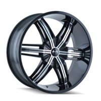 Image RUSH (792) BLACK/MACHINED FACE 22x9.5