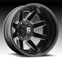 Image Maverick Dually Rear D538 - Matte Black & Milled 17x6.5