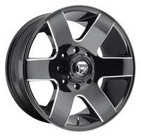 Image Tank D602 - Gloss Black & Milled 20x9