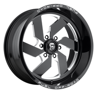 Image Turbo D582 - Gloss Black & Milled 20x12