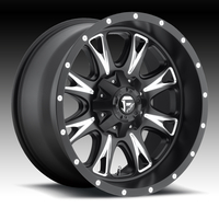 Image Throttle D513 - Black & Milled 17x9