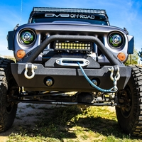Image Steel Stubby Front Bumper 15 w/ Fog Lights for 07-16 Jeep Wrangler