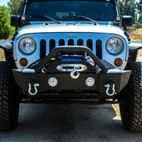 Image Steel Stubby Front Bumper 13 w/ Fog Lights for 07-16 Jeep Wranglers