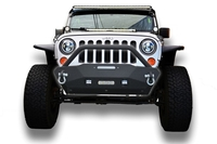 Image Steel Stubby Front Bumper 16 w/ Fog Lights for 07-16 Jeep Wrangler