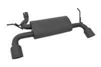 Image Jeep Dual Outlet Performance Exhaust   Matte Black Stainless Steel (07-18 JK Wra