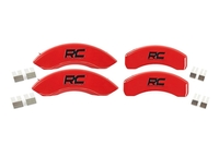 Image Brake Caliper Covers | Red [15-18 Ford F-150, Mechanical Parking Brake]