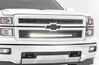 Image Chevy Mesh Grille w/30in Black Series LED (14-15 Silverado 1500)