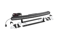 Image Single Row LED Light Bar Grille Mount w/ 30-inch Chrome Series CREE LED Light Ba