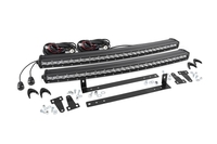 Image Dual Set of Single Row LED Light Bar Grille Mounts w/ 30-inch Chrome Series CREE