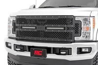 Image Ford Mesh Grille w/ Dual 12in Black-Series LEDs (17-18 Super Duty)