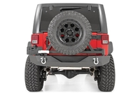 Image Jeep Rock Crawler Rear HD Bumper w/Tire Carrier (07-18 Wrangler JK)