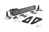 Image 20-inch Black Series Dual Row CREE LED Light Bar & Grille Mounts Kit (Wrangler J